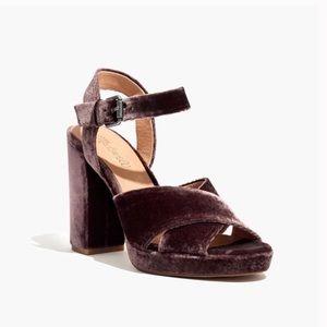 Madewell Vanessa sandal in velvet brown 5.5
